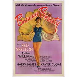 Bathing Beauty original U.S. one-sheet poster on linen