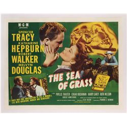 Sea of Grass original U.S. half-sheet poster on linen