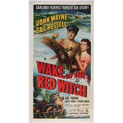 Wake of the Red Witch original U.S. 3-sheet poster on linen