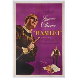 Hamlet (1949) original U.S. one-sheet poster on linen