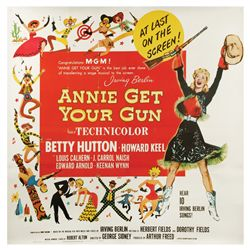 Annie Get Your Gun original U.S. 6-sheet poster on linen