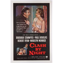 Clash by Night original U.S. 1-sheet poster on linen