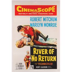 River of No Return original U.S. one-sheet poster on linen