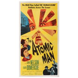 The Atomic Man original U.S. 3-sheet poster on linen
