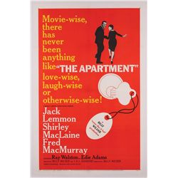 The Apartment original U.S. one-sheet poster on linen