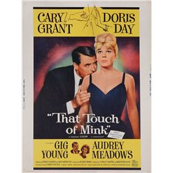 That Touch of Mink original rolled U.S. 30 x 40 poster on linen