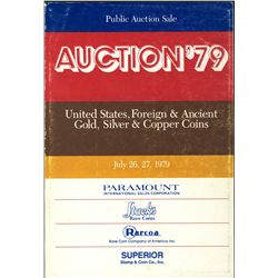 Auction '79 – July 26/27, 1979, by Stack's, Paramount, Rarcoa and Superior.  Huge catalog of rare U.