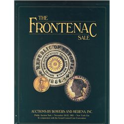 "Bowers & Merena Inc. – November 1991 – ""The Frontenac Sale"". Numerous prestigious items offered, inc"