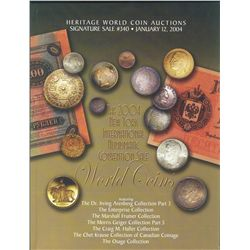 "Heritage World Coin Auctions – January 12, 2004  ""The  2004 N.Y. International Convention Sale"".  Fe"