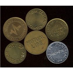 Tokens.   Large lot of Canadian Parking.  From Ontario, York Central Hospital(14), City of Woodstock
