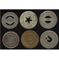 Tokens.  US Transportation Tokens.  Includes Florida to Kansas issues all in individual envelopes gr