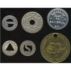 Tokens.  US Transportation Tokens.  Includes Kentucky to Minnesota issues all in individual envelope