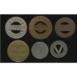 Tokens.  US Transportation Tokens.  Includes Minnesota to New York issues all in individual envelope