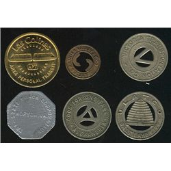 Tokens.  US Transportation Tokens.  Includes Texas to West Virginia issues all in individual envelop