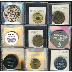 Tokens.  US Transportation Tokens.  Includes New York to Wyoming  issues all in individual envelopes