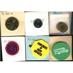 Tokens.  US Transportation Tokens.  Includes Alabama to Wyoming  issues all in individual envelopes