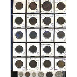 Token Lot.  Lot of 20 tokens including NF-1B2, LC-15a2, LC-30b, PC-6d, NS25a1, LC48a2, Horwood Lumbe