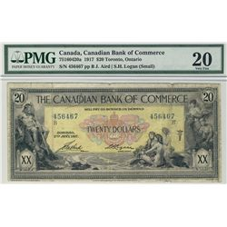 Canadian Bank of Commerce 1917 $20 #456467 CH-75-16-04-20a PMG VF20.