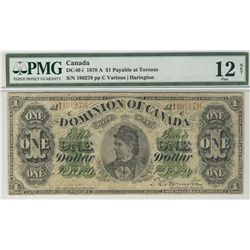 1878 $1 DC-8f-i #A186278 PMG F12 Net.  Designated with discoloration.