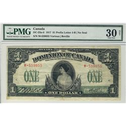 1917 $1 DC-23a-ii #559055 PMG VF30 Net.  Designated with adhesive.