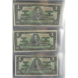 1937 $1 to $100.  Lot of 13 notes.  Includes 1937 $1(3), $2(2), $5(2), $10(2), $20, $50 & $100.  VG