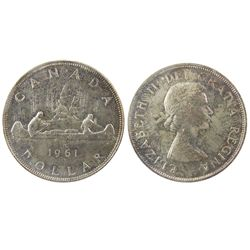 1961 $1 ICCS MS65. Superbly toned with great lustre.  A very nice example and quite desirable.