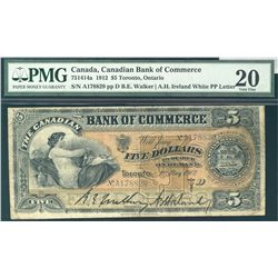 The Bank of Commerce 1912 $5 #178829 CH-75-14-14a PMG VF20.
