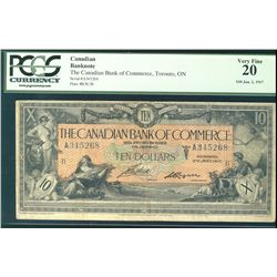 The Canadian Bank of Commerce 1917 $10 #A345268 CH-75-16-04-12a PCGS VF20.