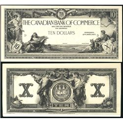 The Canadian Bank of Commerce 1917 $10 CH-75-16-02-06P Face & Back Proofs. Black & White issues with