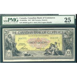 The Canadian Bank of Commerce 1917 $20 #264355 CH-75-16-04-20a PMG VF25.