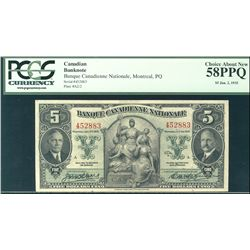 La Banque Canadienne Nationale 1935 $5 #452883 CH-85-14-02 PCGS CH AU58PPQ.