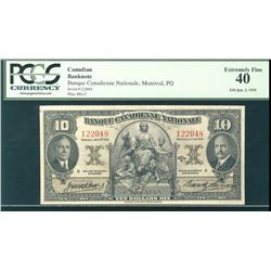 La Banque Canadienne Nationale 1935 $10 #122048 CH-85-14-04 PCGS EF40.