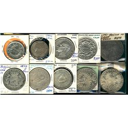 World Crowns & Coinage. Includes 1780(2) Thaler (restrike), 1927 Afghanistan, Bahrain 500 Fils, Belg
