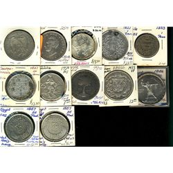 World Crowns & Coinage. Includes Czechoslovakia 1954 25 Korun, 1937 $20 Korun Chile, 1933 1 Peso, Ch
