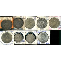 World Crowns & Coinage. Includes New Zealand 1947, 1943 Crown, Norway 1906 2 Kroner, Panama 1947 1 B