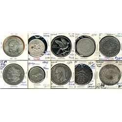 World Crowns & Coinage. Includes Taiwan 1965 $100, Tibet 3 Srang, Trinidad & Tobago 1972 $1, Turkey
