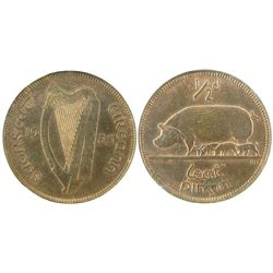 Ireland 1933 1/2¢ NGC MS63RB.