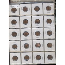 Error Coinage, includes large lot of offset strikes on 27 US pennies and Clips and offsets on 24 Wor