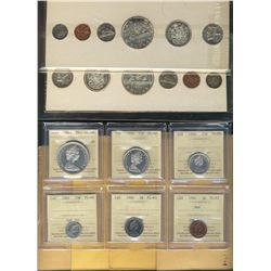 RCM Lot. Includes Proof Like sets 1960(2), 1961(4) in original holders and 1966 Set certified ICCS P