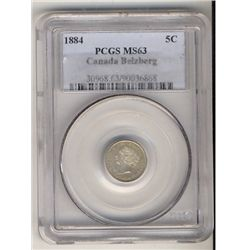1884 5¢ PCGS MS63. Very attractive example with full original luster. Wow! An amazing example of thi