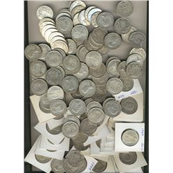 1940 to 1960's Silver 50¢.  Lot includes 134 pcs VG to EF.