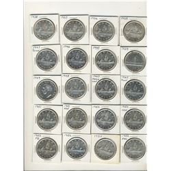 1935 to 2006 $1 set.  Lot includes all key dates and varieties with the exception of the 1966 Small