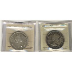 1953 $1 SF & 1957 ICCS MS64. Lot of 2 coins.