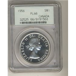 1956 $1 PCGS PL66.  Light Cameo finish.  Nice fields with superb reflective surfaces.