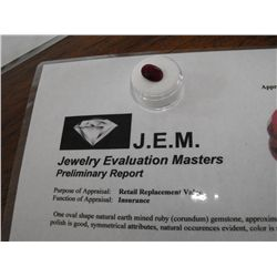 8.5 ct. Earth Mined Ruby - $ 2000 GG GIA