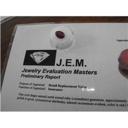 5.5 ct. Earth Mined Ruby - $ 1800 GG GIA