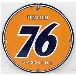 UNION 76 GASOLINE PORCELAIN ADVERTISING SIGN