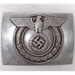 GERMAN NAZI INTERNAL DEFENSE/HOME GUARD UNITS EM BELT BUCKLE