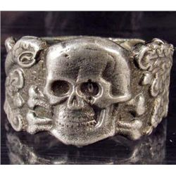 STERLING SILVER GERMAN NAZI ANTI PARTISAN WARFARE RING