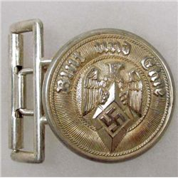 RARE GERMAN NAZI HITLER YOUTH LEADER OFFICERS BELT BUCKLE